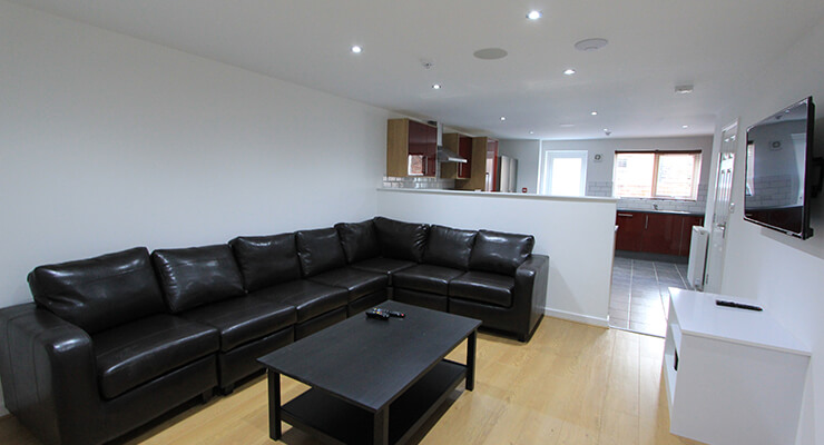 Open plan lounge at 41 Alderson Road Liverpool